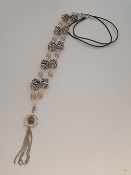 Kette mit Glasperlen in Apricot  Art.1389