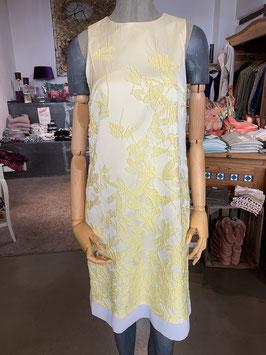 ANA ALCAZAR | A-Linien Kleid ZANTY (midi) | Schulterfrei | Gelb - Vanille