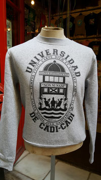 "Sudadera ""Universidad de Cadi-Cadi"" de SKaYLINE. Color gris vigoré"