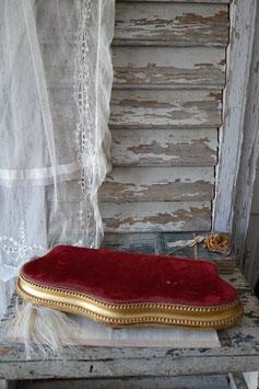 Antikes vergoldetes Holzplateau aus Frankreich Boudoir