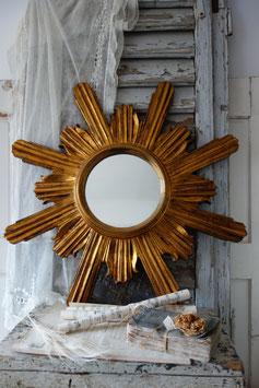 Vintage alter großer Sonnenspiegel / Strahlenspiegel