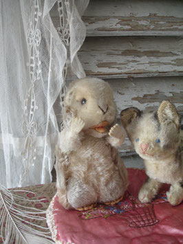 Shabby: Süßes altes bespieltes Steiff Murmeltier