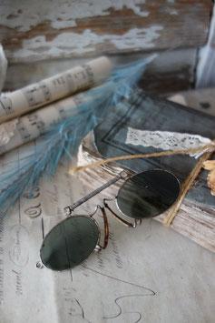 Seltene getönte antike Brille Nasenzwicker Frankreich