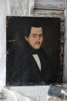 Antikes Herren Porträt Ölgemälde, 19. Jahrhundert