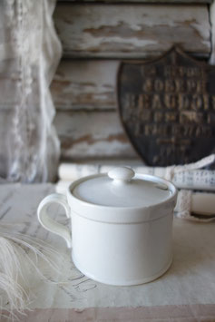Shabby: Antike Senftöpfchen Keramik Petrus Regout