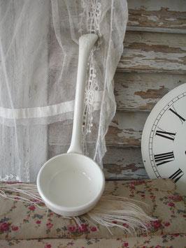 Shabby: Dekorative französische Keramik Suppenkelle