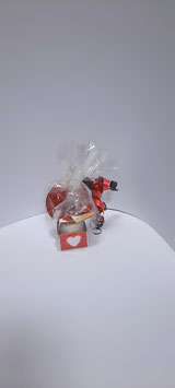 Kaarsje met chocolade munt liefde