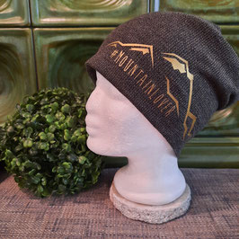 Beanie Mountain Lover dark-gold