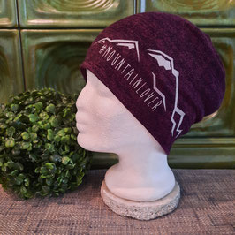 Beanie Mountain Lover aubergine