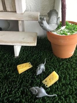 Wichtel Zubehör Maus mit Käse