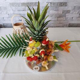 Brochettes piquées sur ananas (40 pièces)