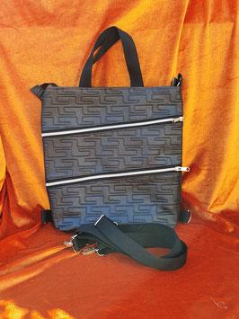 4in1-Tasche silber/schwarz