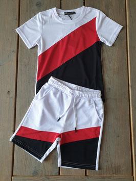 boys set white/red/black