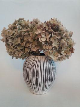 vase strié blanc