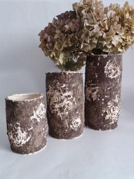 vase bouleau brun
