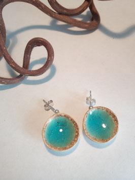 """grandes boucles d'oreilles pendantes """"turquoise"""" supports en argent 925"""