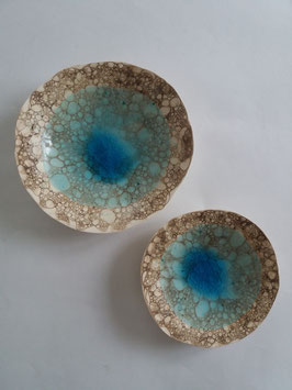 coupelle turquoise bulles
