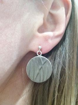 """grandes boucles d'oreilles pendantes """"herbes"""" brunes supports en argent 925"""