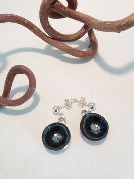 """petites boucles pendantes """"écume"""" supports en laiton argenté"""