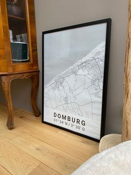 Domburg Map Premium Poster