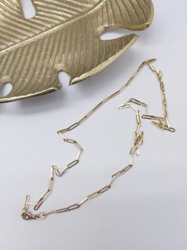 collier 60 cm paperclip 14 krt goud