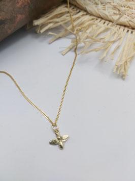 gouden ketting 42 cm met gouden bijtje