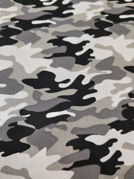 Baumwolle Camouflage grau/schwarz, Grundpreis: 10,90€/m