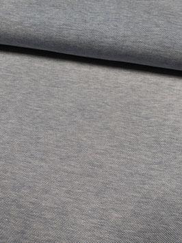Baumwoll-Pique graumeliert, Grundpreis: 17,90€/m