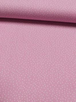 Baumwolle rose mit weißen unregelmäßigen Punkte, Grundpreis: 11,90€/m