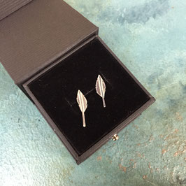Little Silver Feather Studs