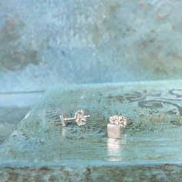 Little Silver Square Stud Earrings