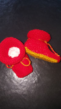 Baby-Finkli  Rot/Gelb (Nr. 9)