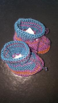 Baby-Finkli Olive/Violette (Nr. 16)