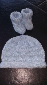 Baby-Mütze (nur Mütze) Hellblau (Nr. 2)