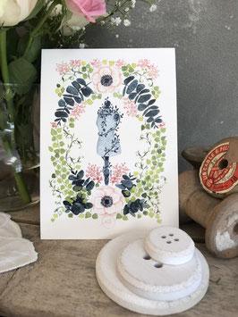 """Carte postale Edition Couture """"Jardin secret"""""""
