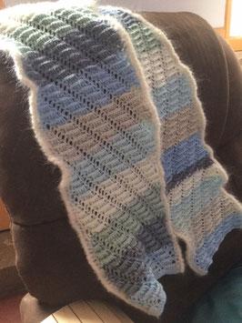 017 Echarpe bleue/gris