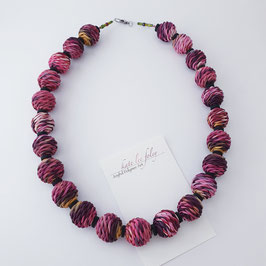 'Knitted' pink - necklace