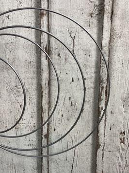 Metallring silber beschichtet verschiedene