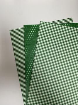 Motivkarton grün/ weiß versch. Designs
