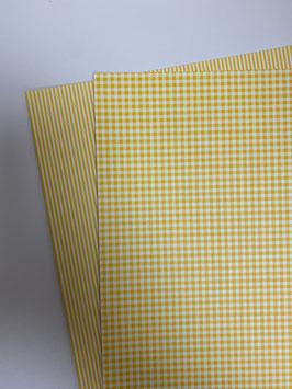 Motivkarton gelb/ weiß versch. Designs