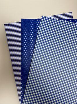 Motivkarton blau/ weiß versch. Designs