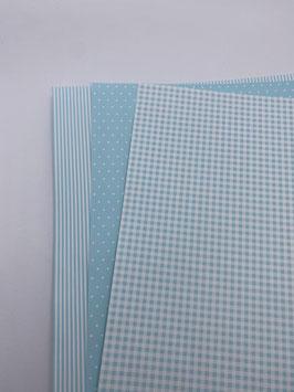 Motivkarton hellblau/ weiß versch. Designs