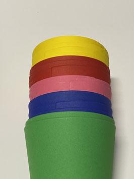 Schultütenrohlinge für Geschwister  rund glatt verschiedene