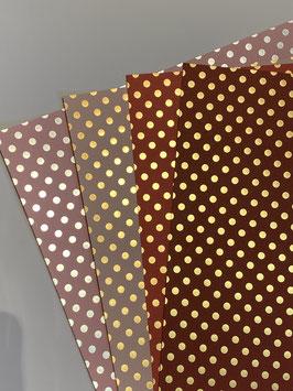 Papier mit Folienpunkten verschiedene