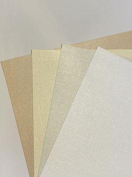 Linenstrukturpapier metallic verschiedene