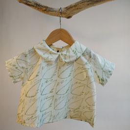 Blouse 'feuilles' BIO pour enfant 0 à 4 ans