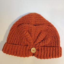Bonnet façon turban RECYCLÉ 'rouille' pour femmes