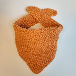 Bavoir bandana RECYCLÉ 'orange corail' pour enfant