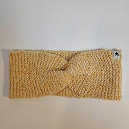 Bandeau torsade RECYCLÉ  'jaune bouton d'or' pour femme