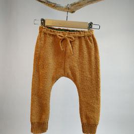 Pantalon 'moutarde' jersey envers RECYCLÉ pour enfant 0 à 4 ans